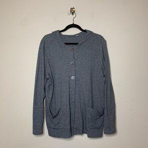 Pure Jill J. Jill Gray Button Cardigan Sweater